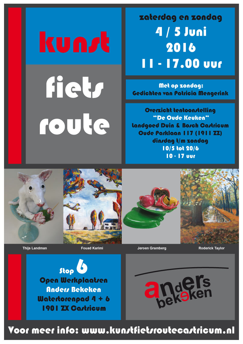 Poster Kunst Fiets Route 2016 (1)