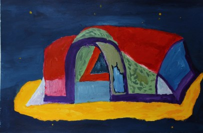 Tent in de nacht