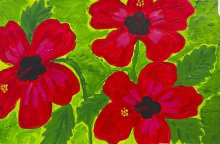 Maria Gieraltowska - Rode bloemen