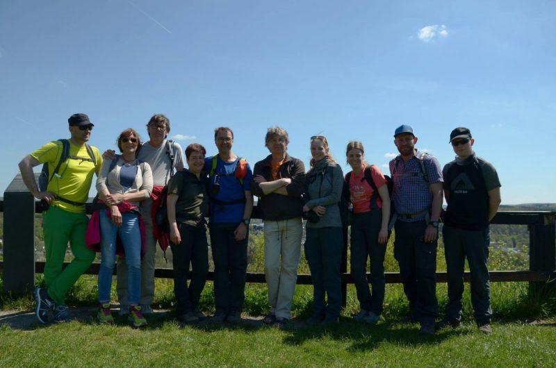 Hier steht ein Bild mit dem Titel: Eine tolle Idee – Wanderblogger beim Bloggerwandern (Foto: Mupinet Outdoor)