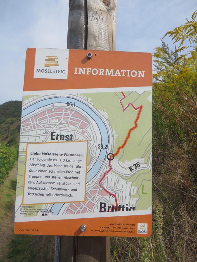 Schild, Markierung, Landkarte, Ernst, Moselschleife