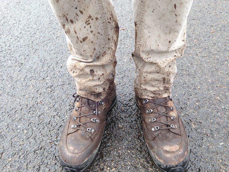 Matsch as Matsch can – reichlich nasse Tour im Hohen Venn mit meinen Lowa-Bergschuhen (Foto: Hans-Joachim Schneider)