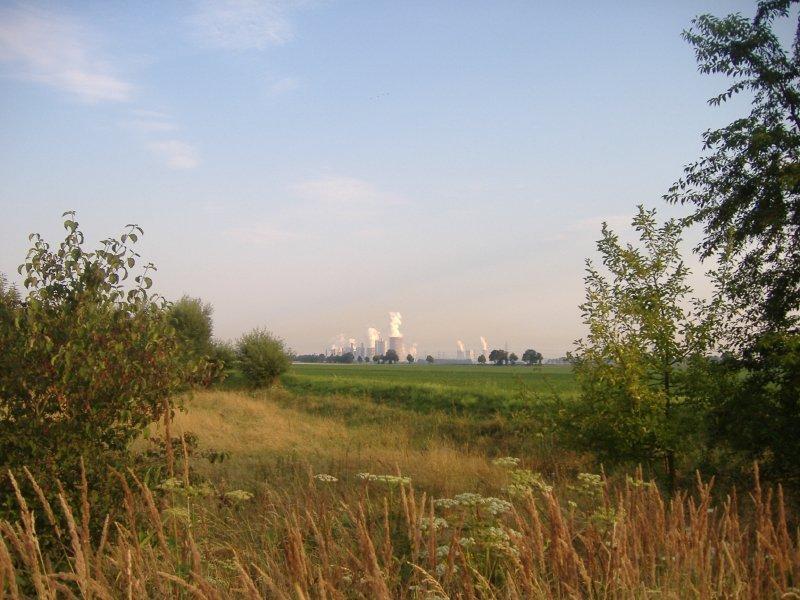 Horizont, Kraftwerk, Weitblick, HImmel, Glessen,
