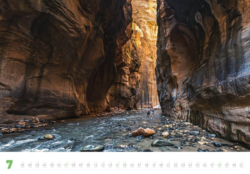 Wanderlust 2019, Wanderer in den Narrows in Utah, USA (Fotografie: Imago, Imagebroker)