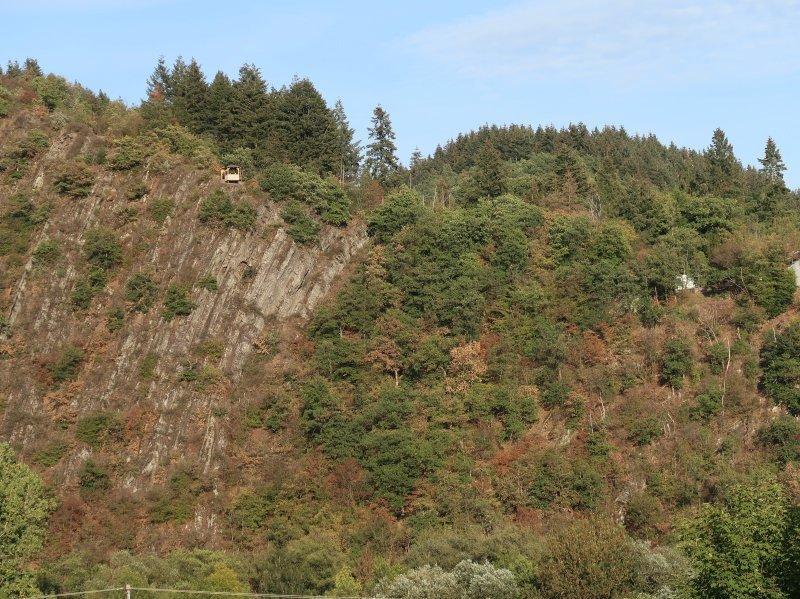 Von gegenüber noch über dem steilen Felshang grüßt mich die Spicher Lay.