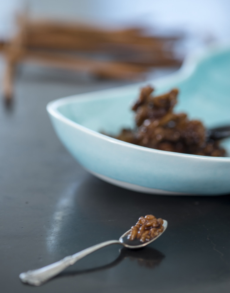 kjaerstrup chocolate - recipe shot with walnuts