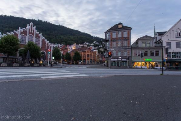 Photo of Bergen taken from fisketorget