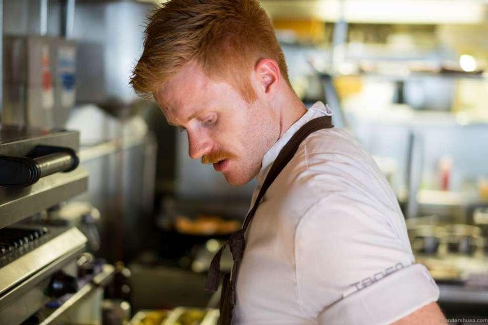 Souschef Jan-Erik Hauge in the kitchen
