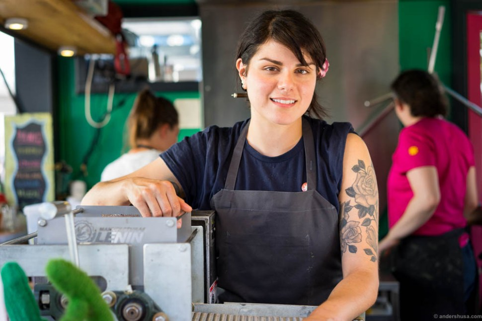 Rosio Sanchez – the former head pastry chef at Noma, now taco boss in Copenhagen.