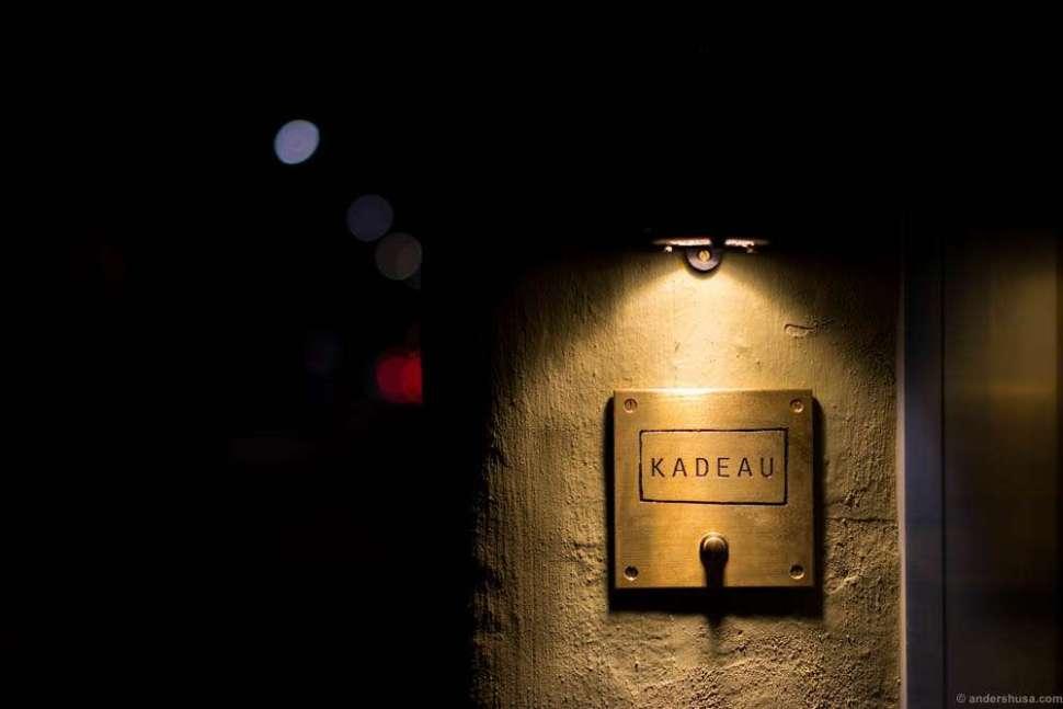 Good night, Kadeau.