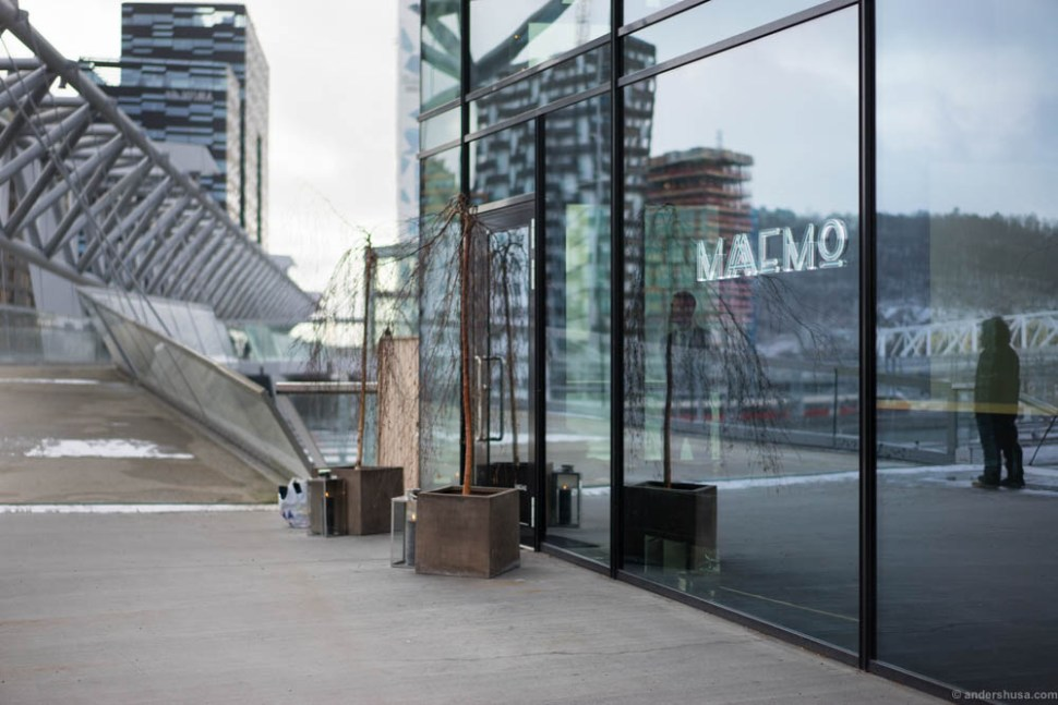The entrance to Maaemo, Norway's only three Michelin-starred restaurant.