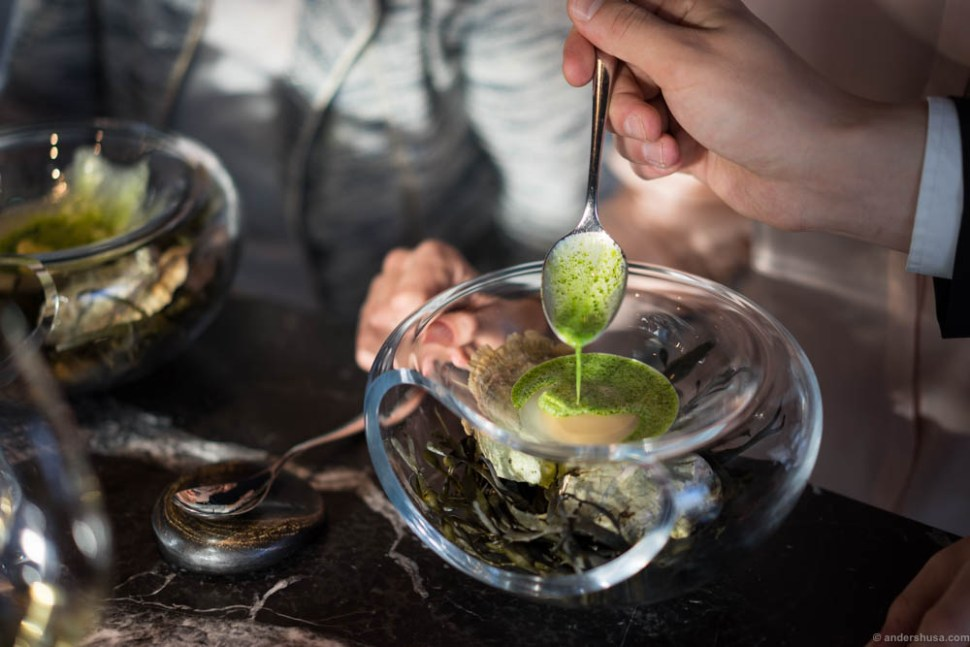 A signature Maaemo dish that's always on the menu.
