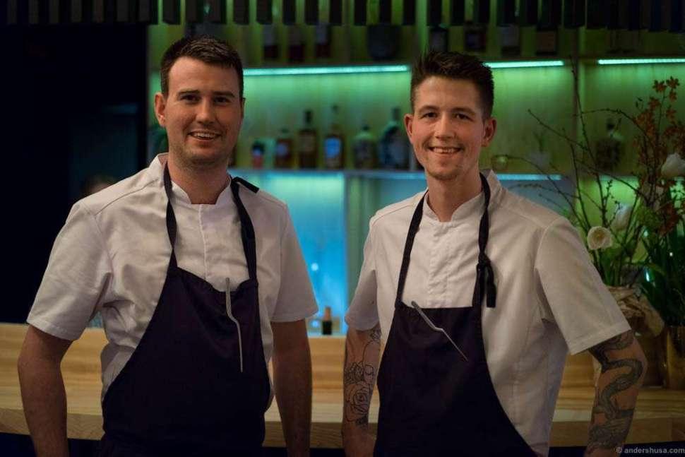 The chefs. Rune Bjørneng & Mads Kjøllmoen.