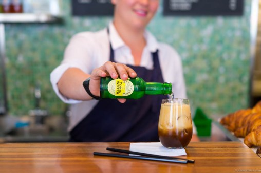 Pouring the Fentimans tonic