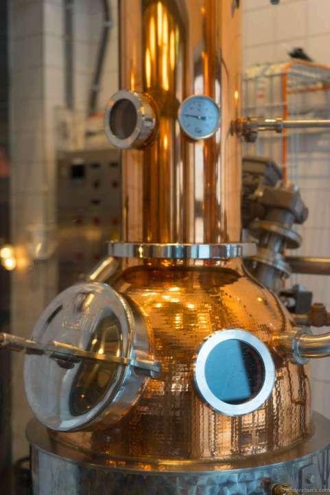 The distillery.