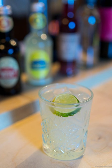 A yuzu cocktail in the bar