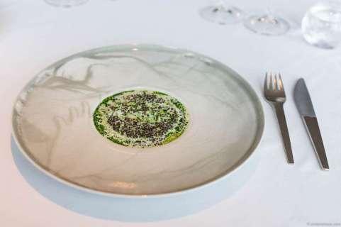 Salted hake, parsley stems & Finnish caviar in buttermilk