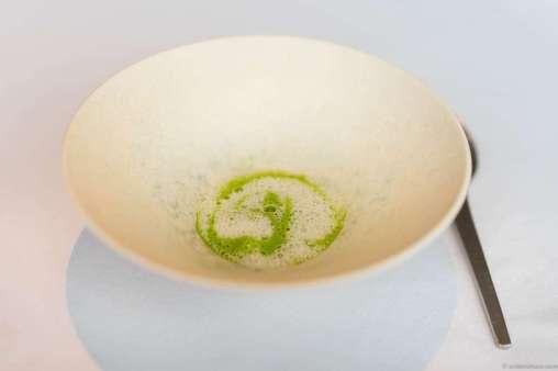 Creamy vegetables with oyster, peas & pickled elderflowers