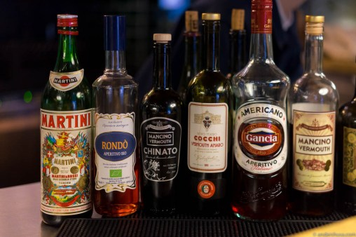 Selection of aperitivo and vermouth
