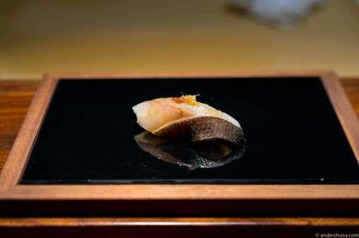 Seabass with yuzu pepper