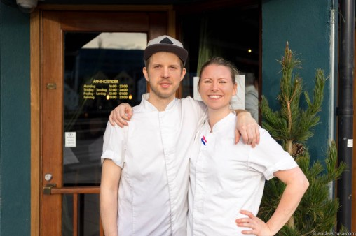 Daniel Lund and head chef Nina Sviland