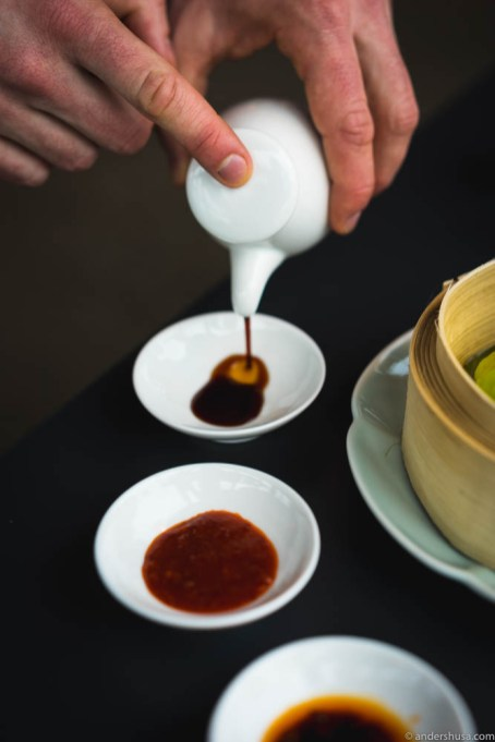 Three sauces for the dim sum