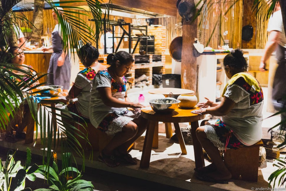 Local Mayan women who make the tortillas