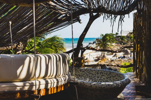 The terrace of our Mayan villa