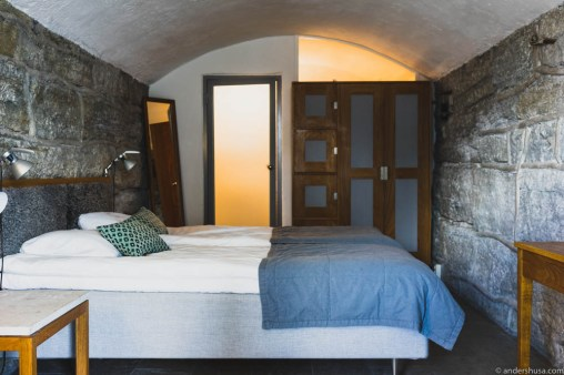 Our vaulted room at Fårösund Fortress