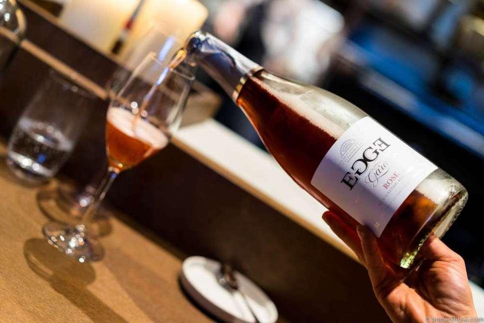 Rosé cider from Egge gård.