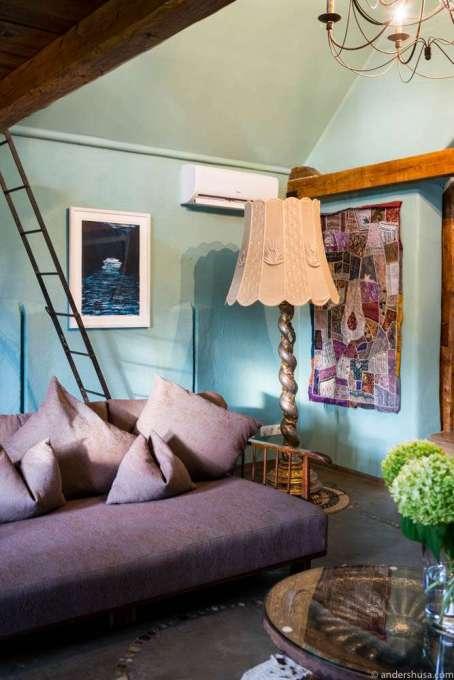 The living room in our Taubenkobel suite