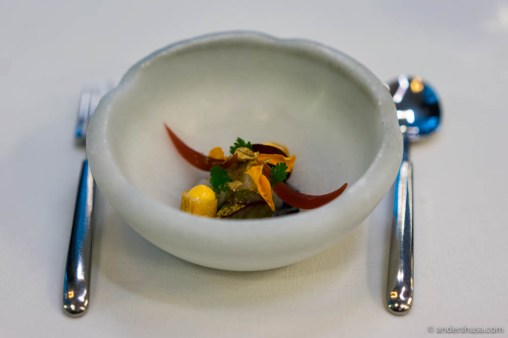 The final dish prepared with the cuttlefish