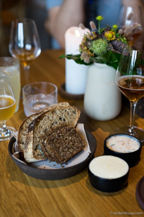 The Danish bread serving