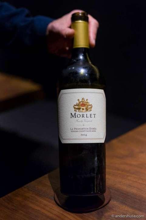 Morlet Family Vineyards, La Proportion Dorée, Sonoma, California
