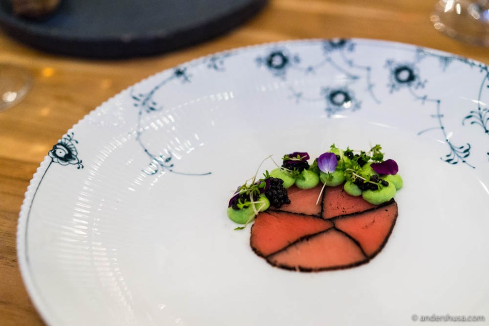 Marbled tuna, avocado & Privilege Caviar