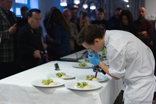 Final preparations are done in front of the judges