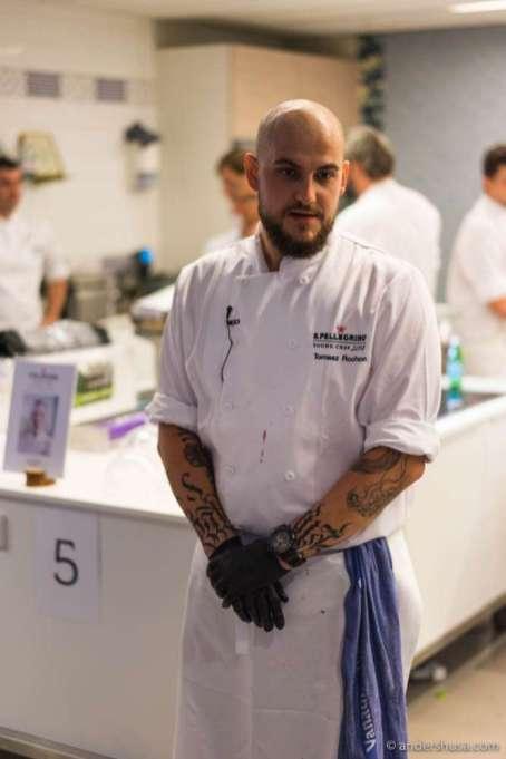 A nervous Tomasz Rochon awaiting the judges first impression