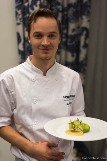 Anton Husa with his finished plate