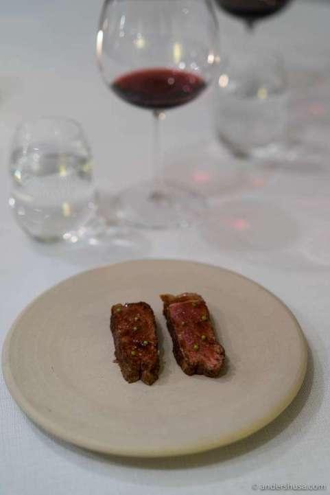 Beef and coriander seeds