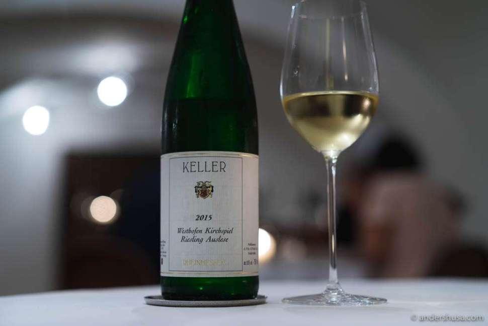 """2015 Riesling Auslese, """"Westhofen Kirchspiel,"""" Weingut Keller, Rheinhessen, Germany"""