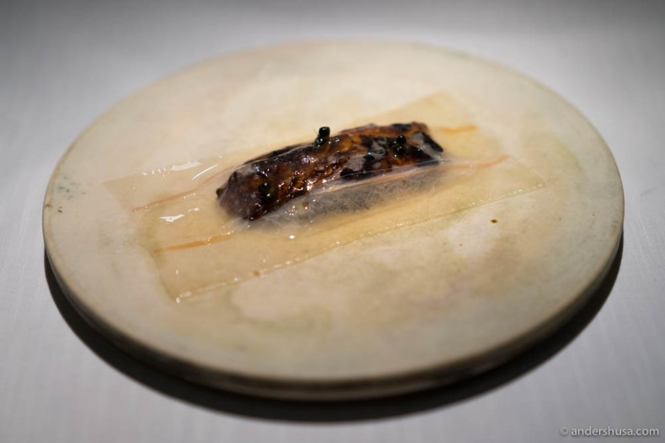 Childhood memory: caramelized cabbage, sherry vinegar & lardo