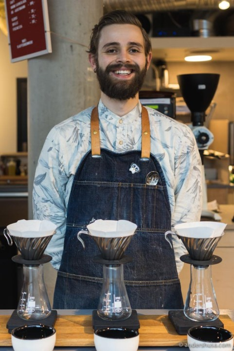 Barista Daniel Reppert started his career at Coffeeberry in Sandnes.