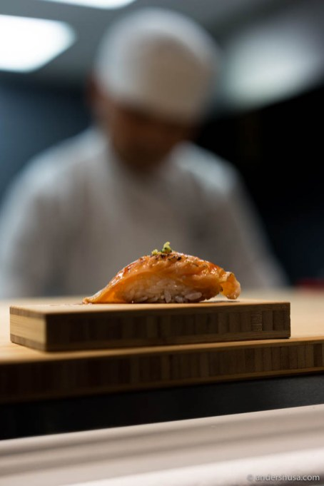 Hamachi belly with kimchi & teriyaki