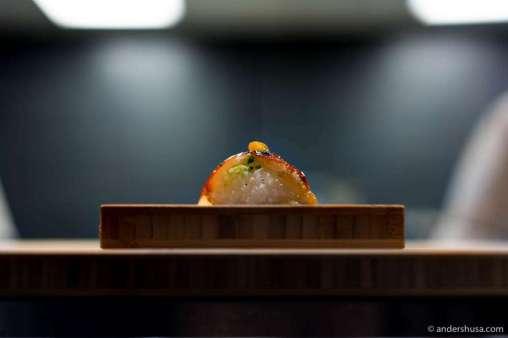 Halibut fat with chili & teriyaki