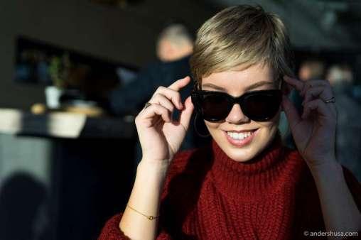 Sara with shades
