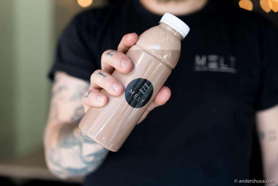 Mmm, salty chocolate milk