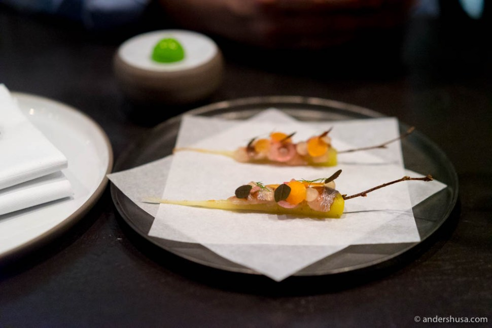 A dish from the 2017 late spring menu of Re-naa