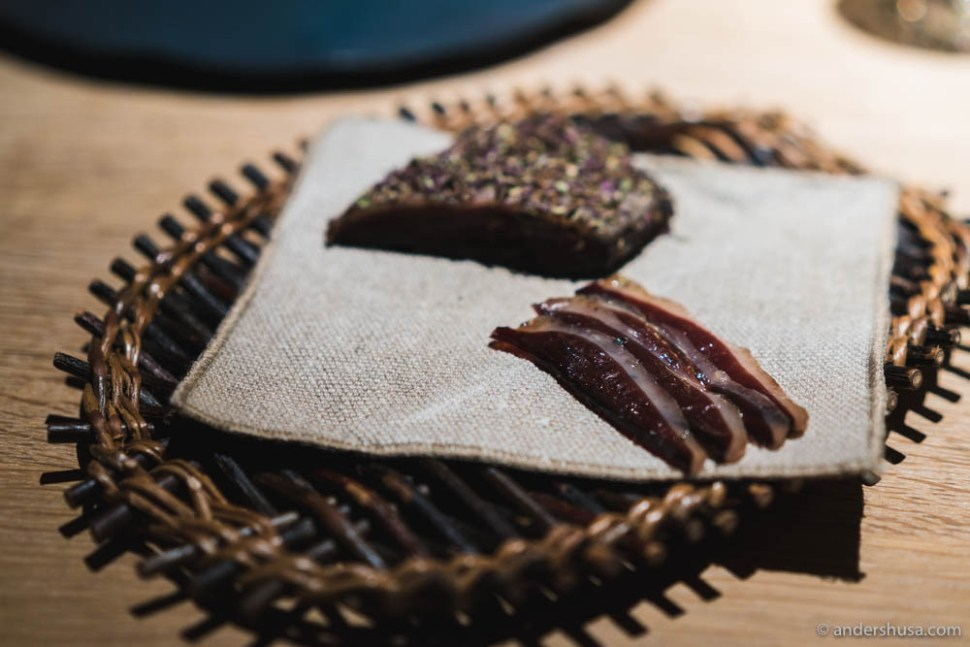 Cured duck breast