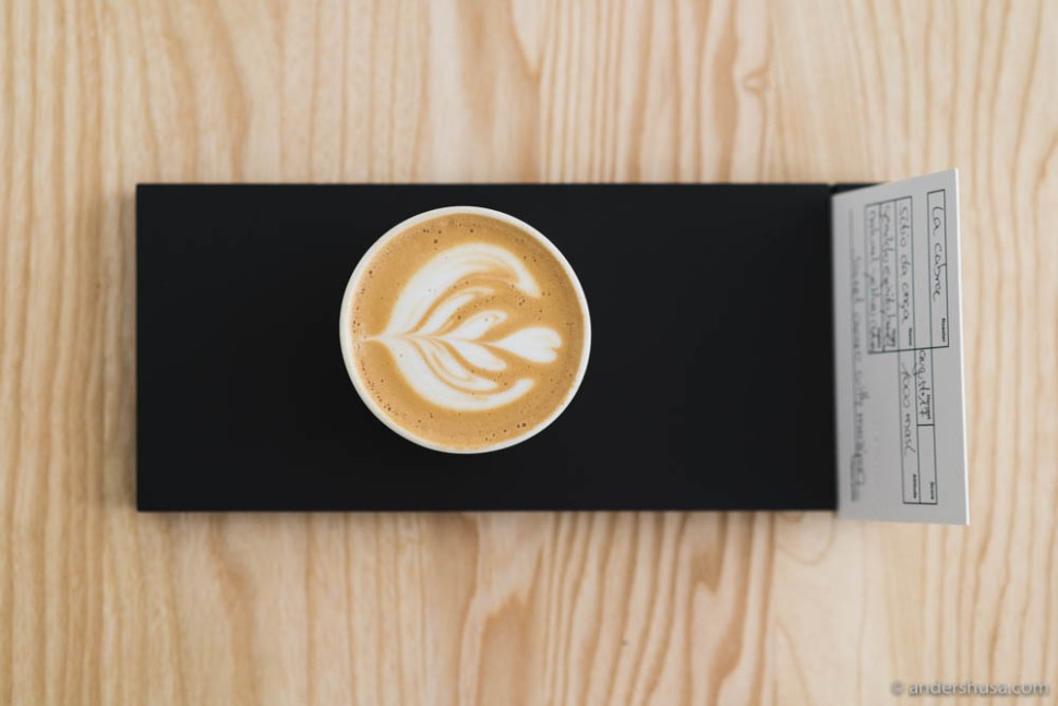 Linus got the inspiration for his flat white from Australia