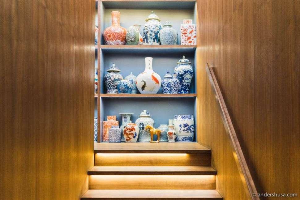 Interior design details at restaurant Tim Raue